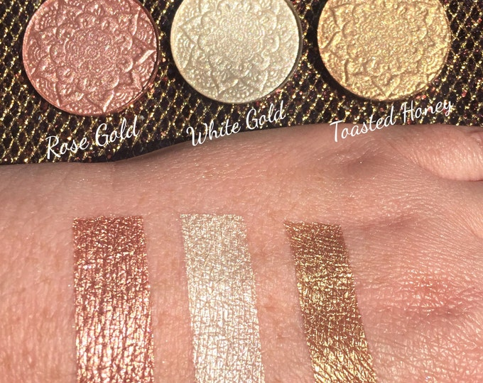 THE MEDALLION COLLECTION - Set of 3 best selling highlighters (Rose Gold, White Gold, Toasted Honey)