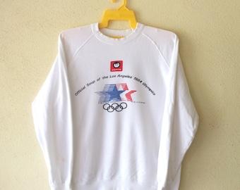 On SALE 60% Off - 1980s Rare Vintage Olympics United States Training Centre Athletics Sweatshirt - 80s Clothing - MV0362 aD9IvptdA