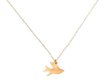 Flying Home Dove Necklace
