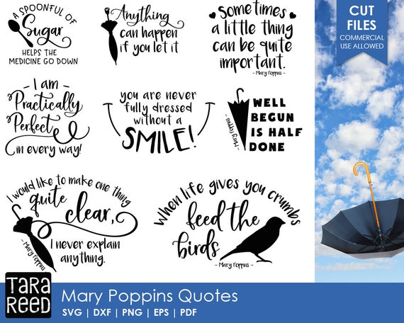 Mary Poppins Svg / Mary Poppins Quotes / Svg Files / Svg