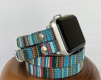 Apple Watch Band 38mm Women Apple Watch Strap Apple Watch Bracelet iwatch band Birthday Gift for Wife Double Tour Cuff iWatch Strap Men Gift