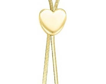 ADJUSTABLE LARIAT NECKLACE Heart Lariat Necklace Adjustable Y Necklace Dainty Gold Lariat Necklace Choker 14K Gold Lariat Necklace Y Choker