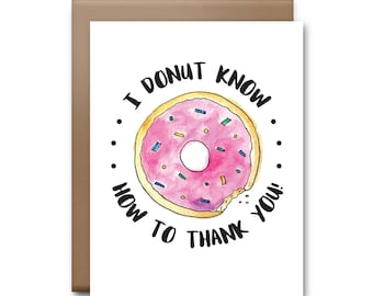 Donut Thank You Greeting Card