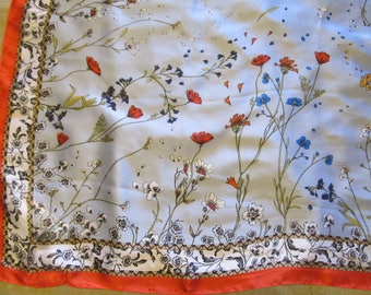 Free Shipping! Vintage Max Studio Floral Scarf, NWT.