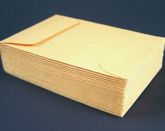 "100 Small Coin Envelopes - 2 1/4"" x 3 1/2"" - Kraft Gummed Envelope"