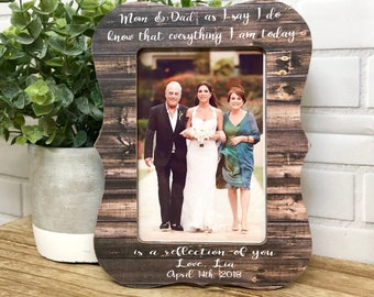 Mom And Dad Wedding Gift•Parents Of The Bride•Wedding Frame•Wedding Gift For Parents•Personalized Wedding Gift For Parents•Personalized Gift