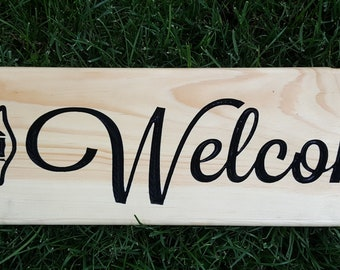 Fire Department Wood Welcome Sign