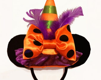 Halloween Witch Mouse Ears Headband