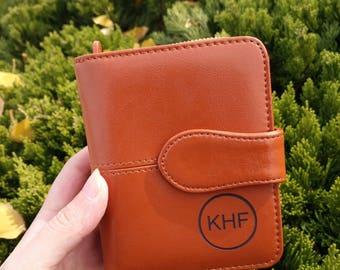 monogrammed wallet for women,Womens wallet leather,leather womens wallet,Monogram clutch,leather clutch,gift for women,personalized womens