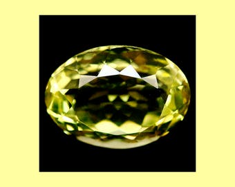 CITRINE (35691) * * * * Sparkly!  15 x 11mm Lemon Yellow  Citrine (Quartz)