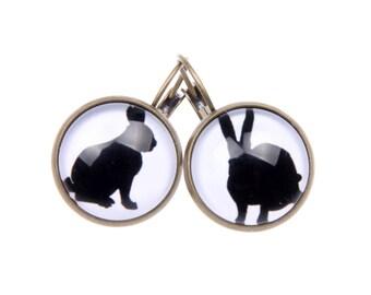 Rabbit Earrings, bunny Earrings, 1616