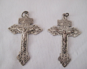 Crucifix  medal, Jesus on cross, religious medal, Catholic medal, crucifixion, gift for communion
