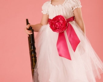 Pretty in Pink without feathers -- Sweet Plume -- Custom Sizes 12 mo - 8 child