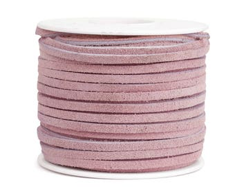 Suede Lacing - (1) 25 yard (75 foot) spool, 1/8th inch lace. Pink Suede lace. (3218x25PK)