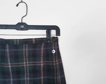 Plaid High Waisted Skirt