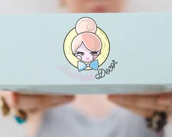 Premade Logo Design | Baking Logo Design | Decor Logo Design | Girly Logo Design | Icon Logo Design | Multicolor Logo Design | Pastel Colors