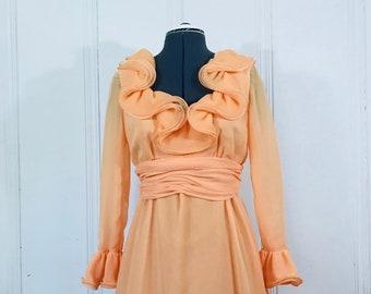 1970s Lillie Rubin Collection 700 Vintage Dress Size M