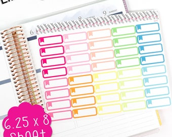 LS243 Summer Palette Flag Appointment Box Planner Stickers.  Perfect for the Erin Condren Life Planner!!!