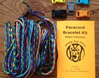 Paracord Bracelet Kit - Makes 5 bracelets