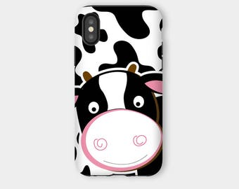 Cute Cow iPhone X Snap Phone Case or iPhone X Tough Case Dairy Cows