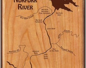 NORFORK RIVER MAP Fly Box...