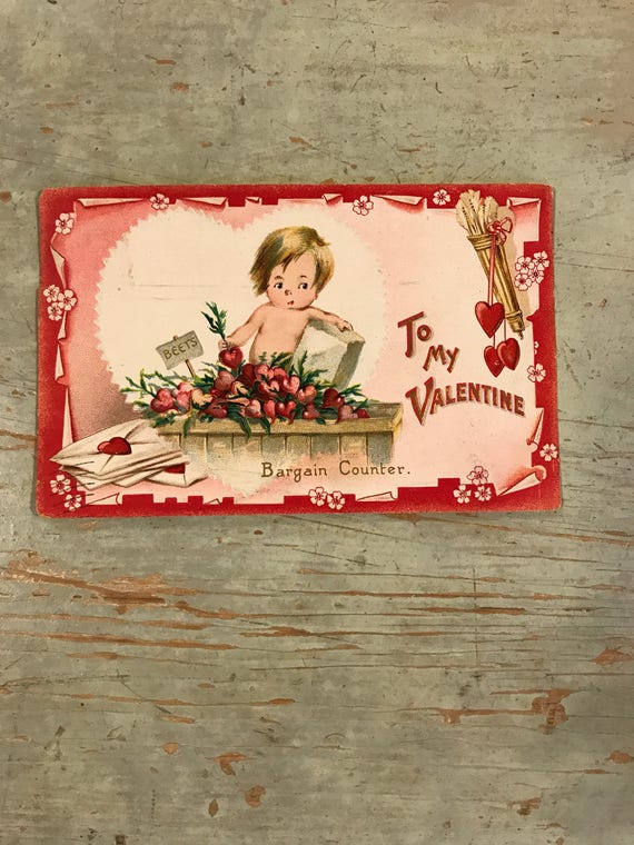To My Valentine Bargain Counter Postcard, early 1900s Tuck