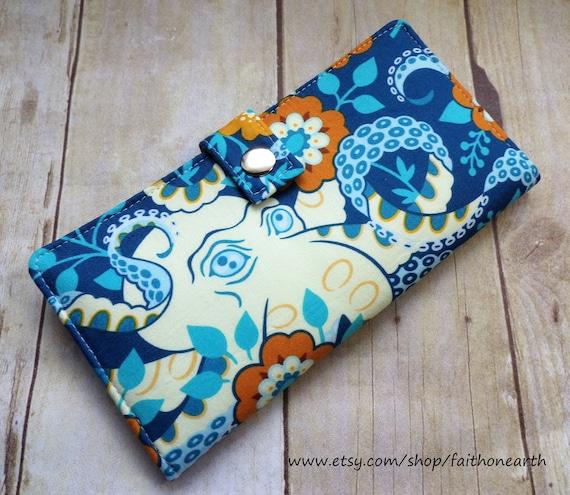 Octopus Garden in Midnight Handmade Wallet