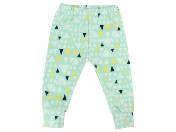 Mint Triangle Baby Leggings Toddler Leggings Boy Leggings Unisex leggings Girl or Boy Baby Pants Toddler Pants Triangle Leggings