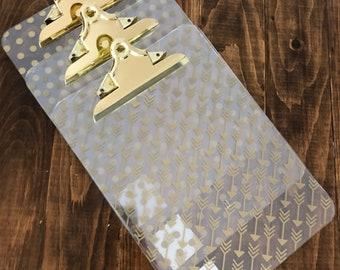 Gold print clipboard