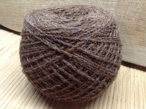BOOTS Jacob/DorsetX alpaca blend yarn 100g balls 4 ply BROWN S17