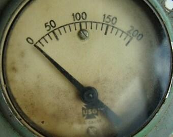 Antique Industrial Pressure Gauge N097