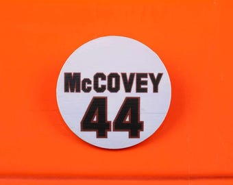 Willie McCovey Number 44 Magnetic Pin from Candlestick Park
