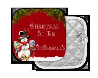 Personalized Christmas Pot Holders