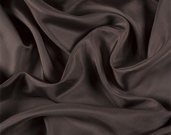 Latte Silk Habotai, Fabric By The Yard
