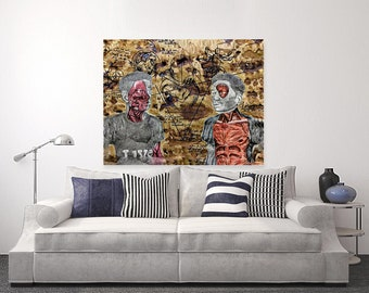 The Human Scenario | Mixed Media Canvas Print | Wall Art