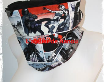 snood - adult reversible tube scarf / teen zombie mixed patterns