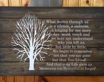Sympathy Gift - Beautiful Memories Beautiful Soul - Wood Sign  Canvas Wall Art - Mom Memorial, Dad Memorial, Loved One Gift, Inspirational