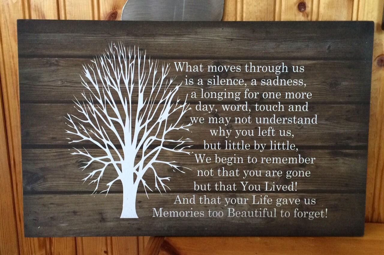 Sympathy Gift Beautiful Memories Beautiful Soul Wood Sign