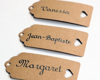 Mark up calligraphed by hand. Wedding, bar mitzvah, birthday, event. French style