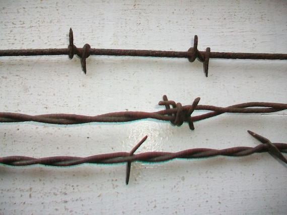 Antique Barbed Wire 3 Pieces 1800s Barbwire Bobbed Wire
