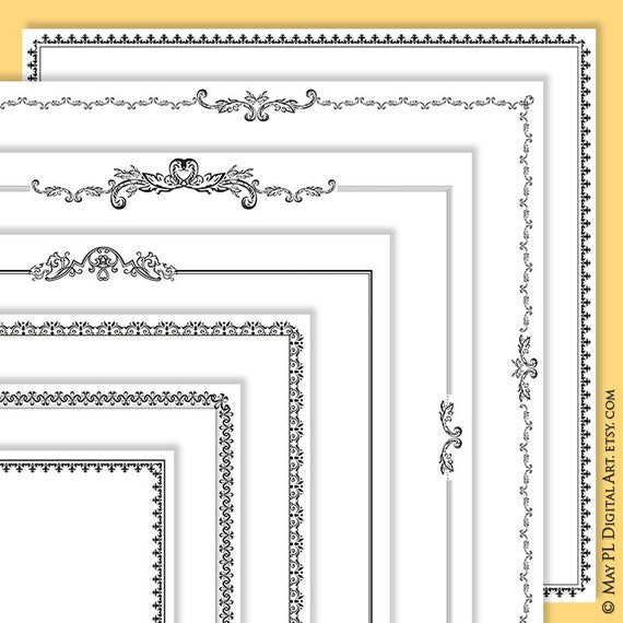 12x12 Scrapbook Page Frame - featuring Page Border Digital Design ...