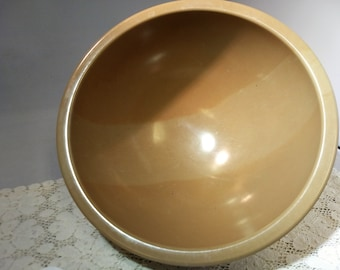 Vintage Banded Melamine Texas Ware Mixing Bowl Unusual Tan Melmac Texasware #C239