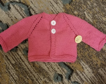 0 to 3 month pink sweater