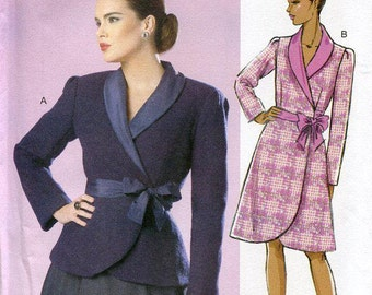 FREE US SHIP Butterick 6105 Retro Look Wrap Coatdress Dress Patterns by Gertie Size 6/14 Bust 30 31 32 34 36 Sewing Pattern Out of Print