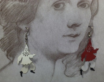 Phenomenally Fun Vintage Dancing Jester Earrings