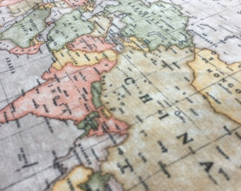 World map 3 designer curtain upholstery cotton fabric material print beige world map 3 designer curtain upholstery cotton fabric material world map print canvas 280cm wide and sold by the meter beige gumiabroncs Image collections