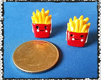 Tube Trinkets: Small Happy French Fries!  Please select quantity 2 for a pair!