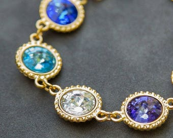 Birthstone Bracelet, Custom Mother's Bracelet, Gold Mothers Day Gift for Nana, Mother's Jewelry, Grandmother's Bracelet, Family Jewelry