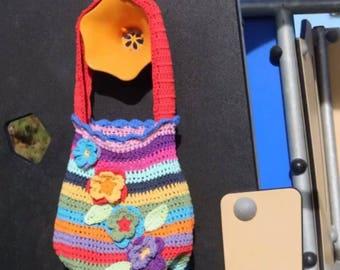 Crochet kids handbag