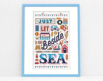 Beside the Sea Cross Stitch Pattern (Digital Format - PDF)